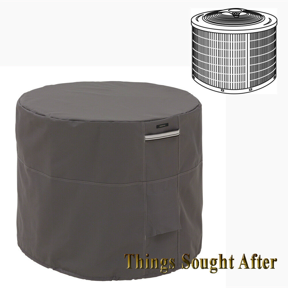 34 inch round air conditioner cover for outdoor ground for Ground air conditioner