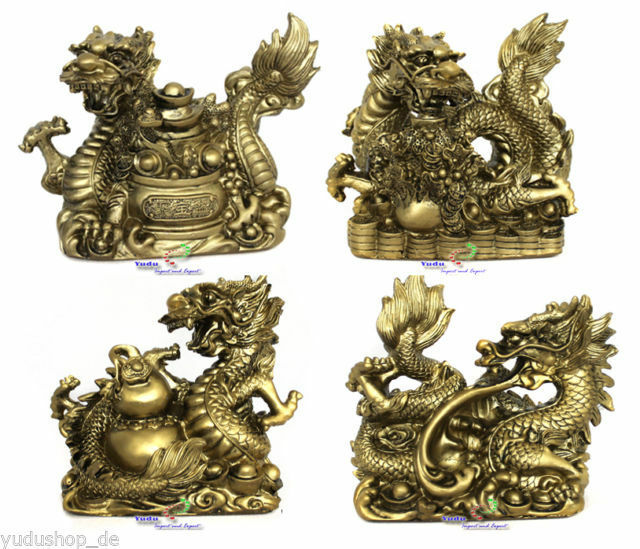 drache figuren fengshui drache gl cksbringer symbol ebay. Black Bedroom Furniture Sets. Home Design Ideas