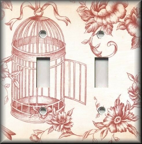 Light switch plate cover vintage bird cage toile chic for Home decorations on ebay