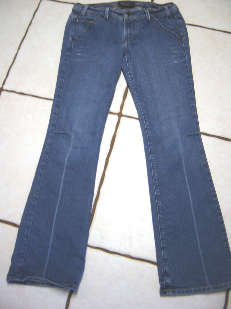 AMERICAN EAGLE DISTRESSED STRETCH DENIM BOOTCUT JEANS SIZE 6 | eBay
