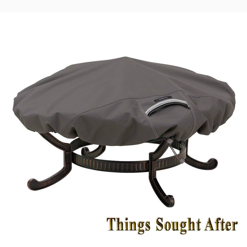 Cover For Large Round Fire Pit Outdoor Metal Firewood