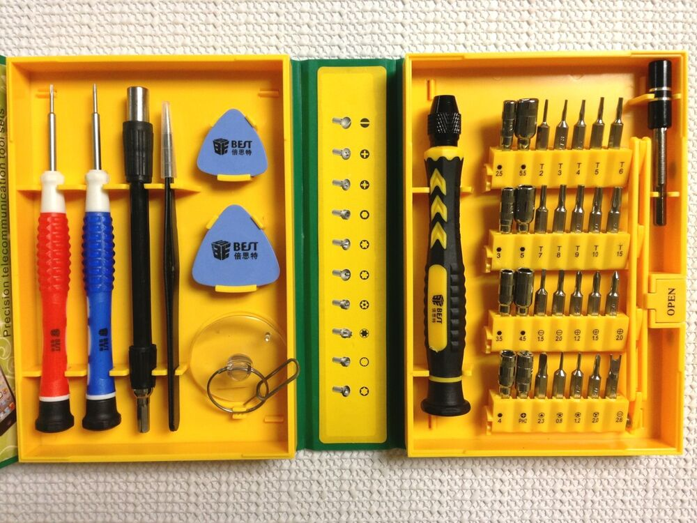 precision 38 in 1 screwdriver set mobile phone pc tablet repair kit tools bt8. Black Bedroom Furniture Sets. Home Design Ideas