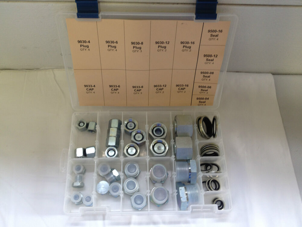 Hydraulic british bspp hex head cap and plug kit with