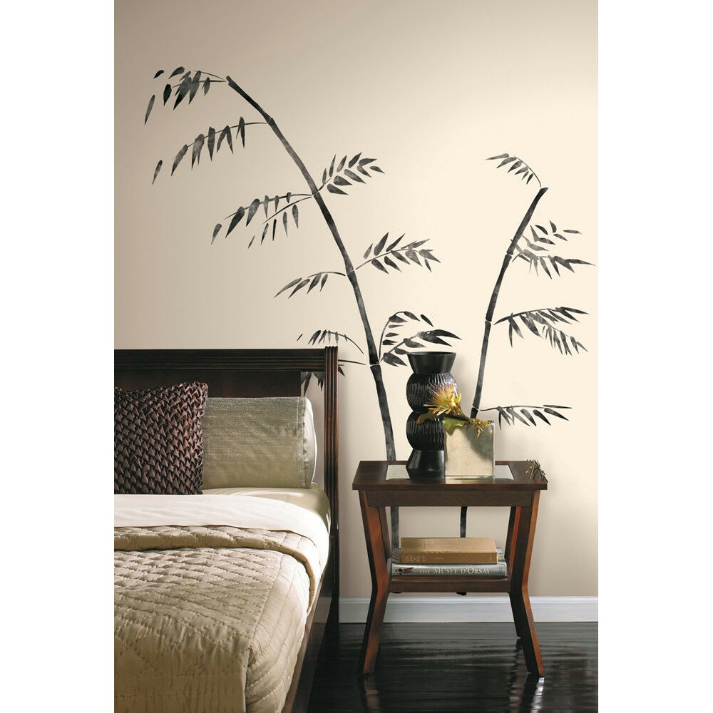 painted bamboo wall peel and stick mural decal ebay