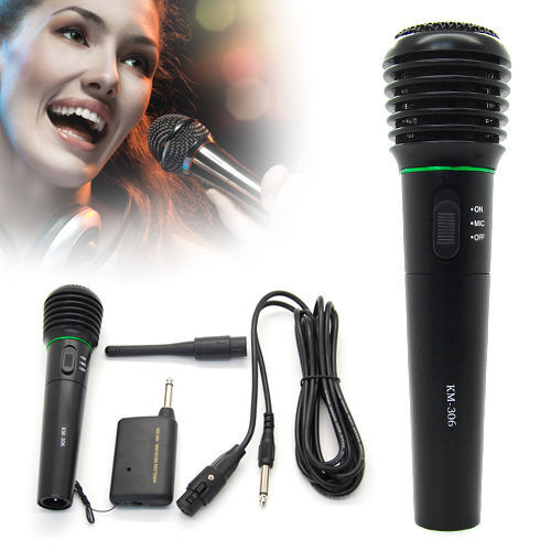 professional wireless wired microphone karaoke singing dj handheld cordless mic ebay. Black Bedroom Furniture Sets. Home Design Ideas
