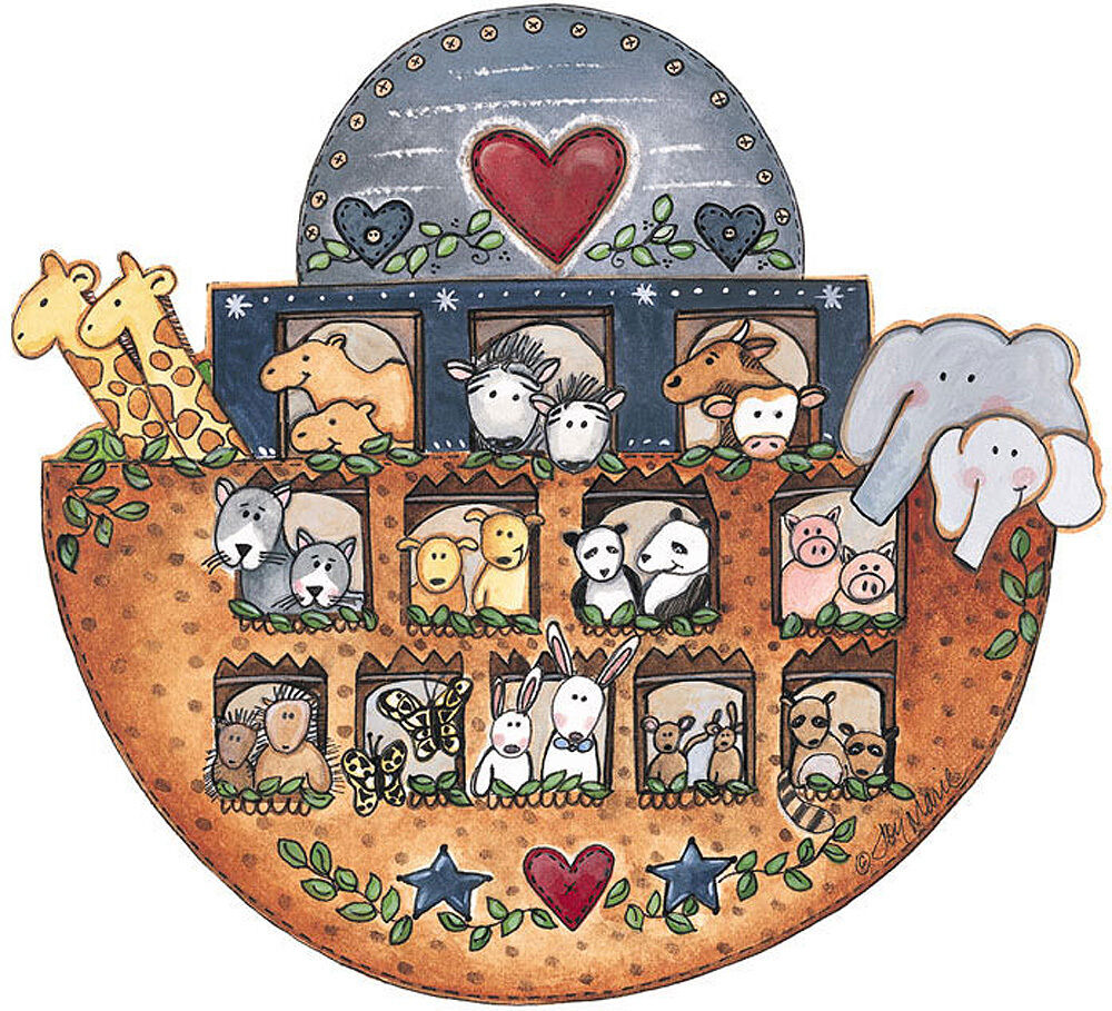 Noahs ark animals ship 25 wallies wallpaper sticker decal for Noah s ark decorations