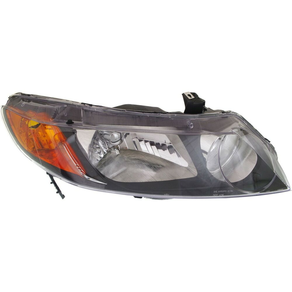 headlight for 2006 2008 honda civic sedan passenger side. Black Bedroom Furniture Sets. Home Design Ideas