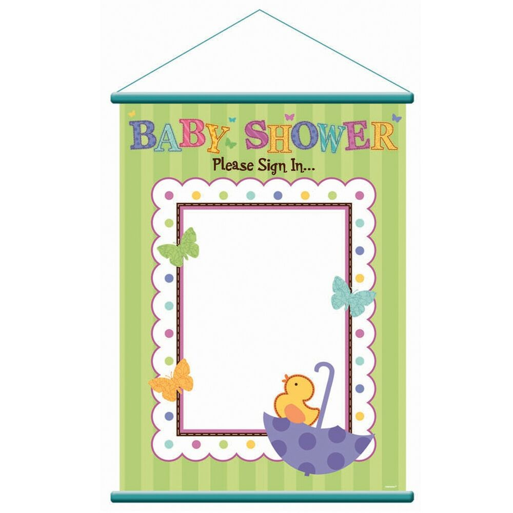 baby shower tiny bundle sign in sheet birthday party supplies