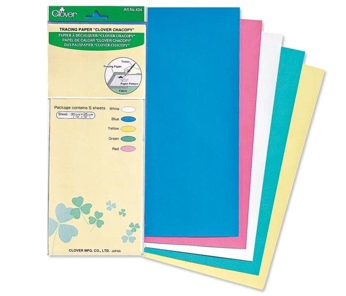 clover 434 chacopy tracing paper sheets 5 colors sewing quilting notions ebay. Black Bedroom Furniture Sets. Home Design Ideas