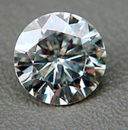 brilliant faceted genuine moissanite created by