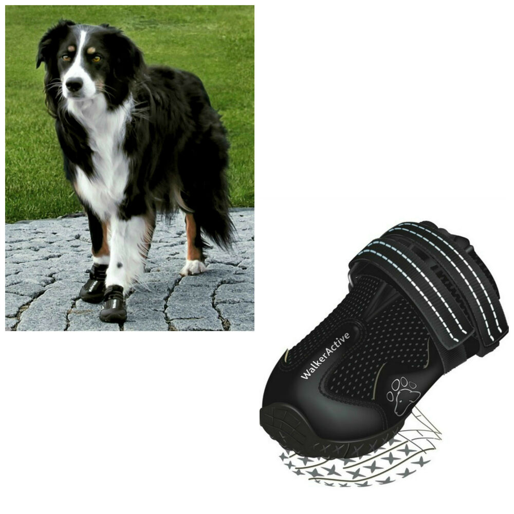 Trixie Black Injured Dog Foot Paw Protect Protector Shoe