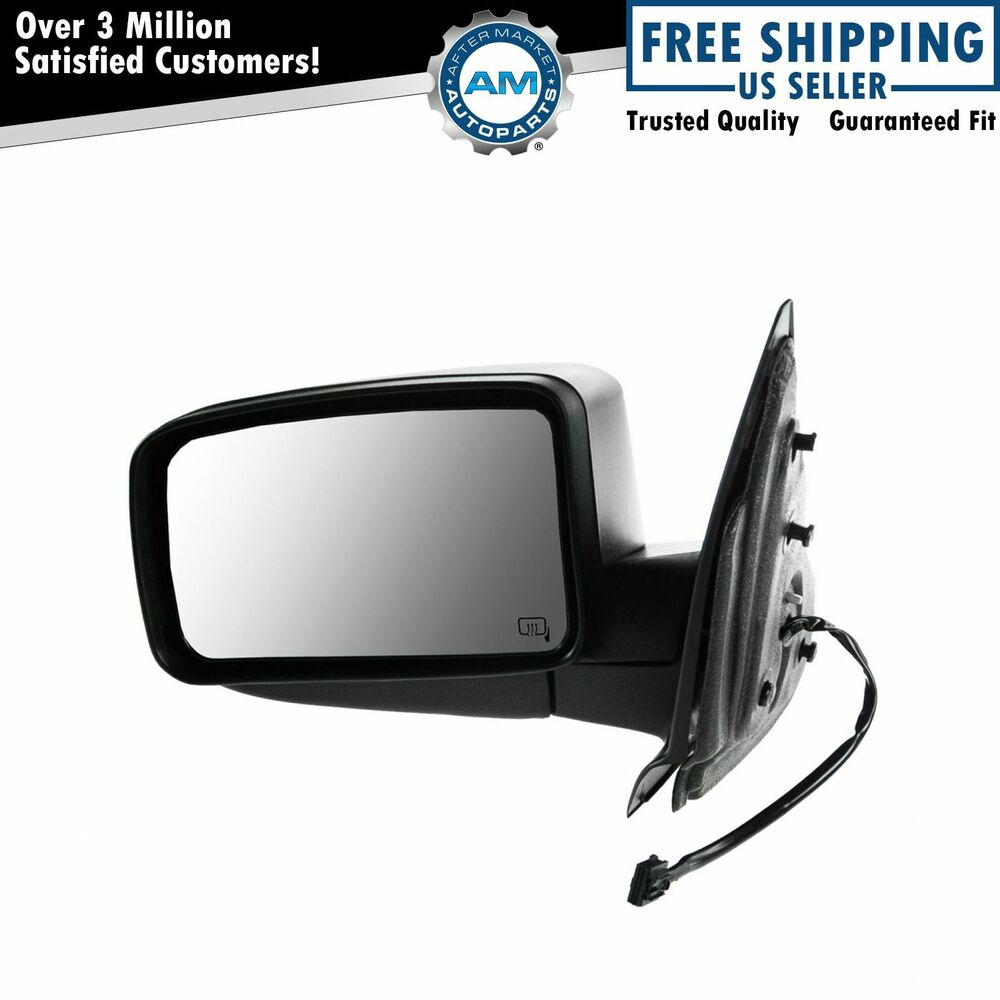 Mirror Power Heated Puddle Light Textured Black Driver