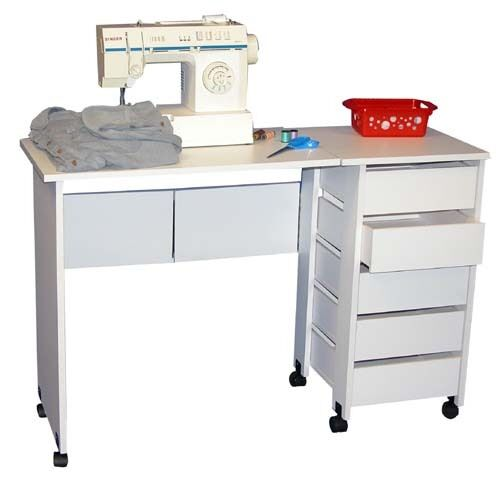 Mobile Folding Sewing Machine Craft Table Home Sewing