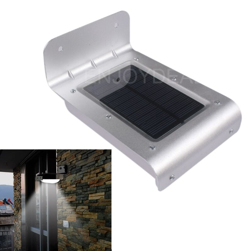 Waterproof 16 Led Solar Powered Outdoor Indoor Sound Motion Sensor Light Lamp Ebay