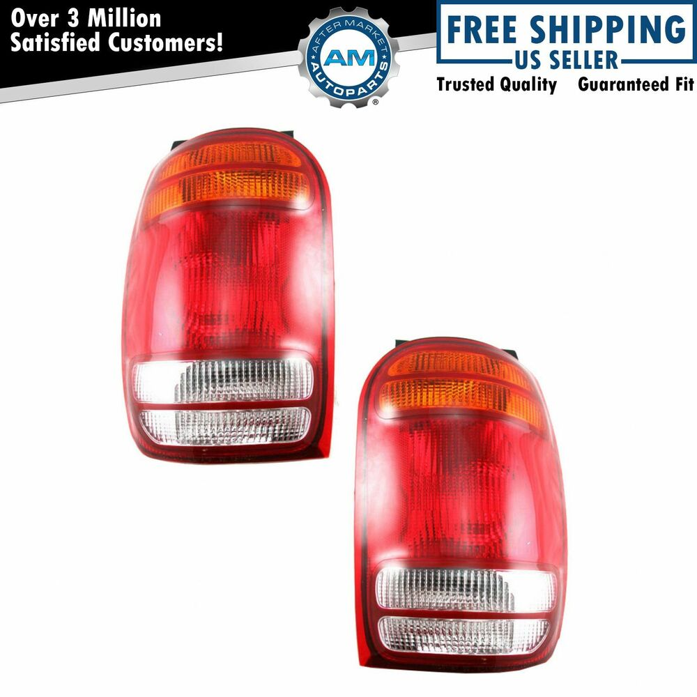 98 mountaineer fuse box: taillights taillamps brake lights lamps pair  set rear for