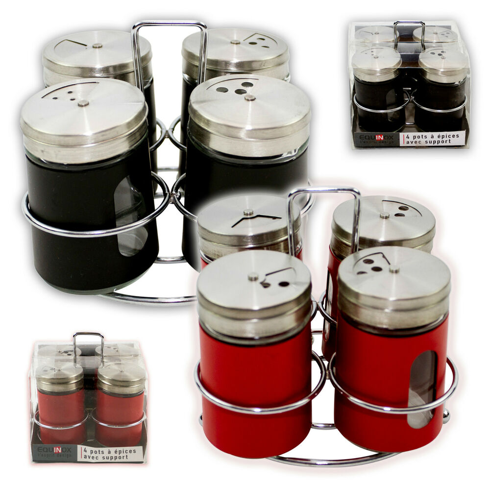 4pcs salt pepper shaker set seasoning spices holder Salt n pepper pots