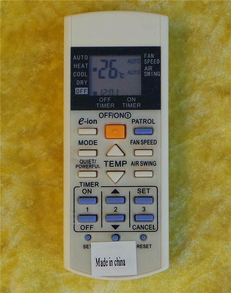 Replacement panasonic air conditioner remote control for 1000 in 1 universal a c remote code table