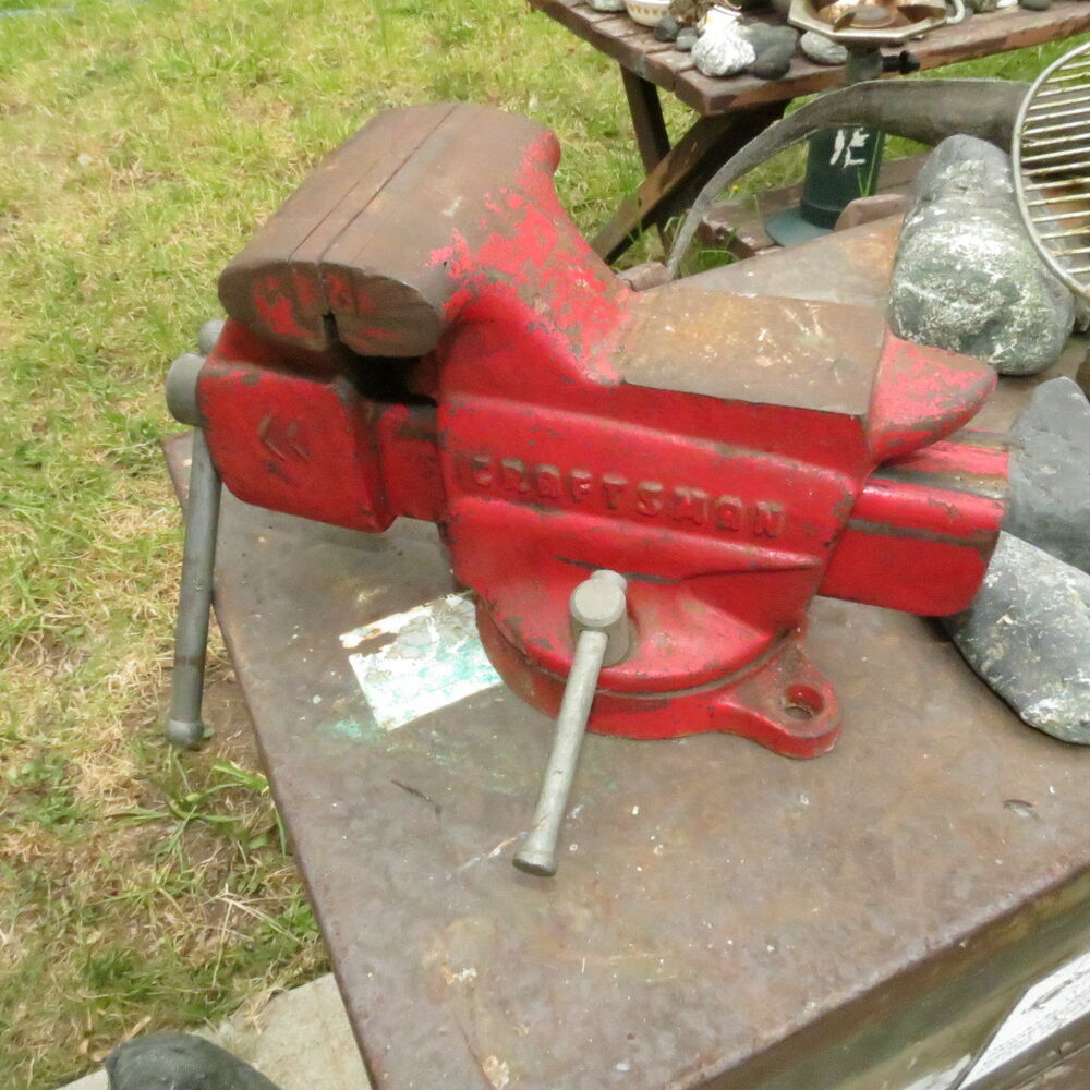 Vintage Craftsman Bench Vise Vice 506 51801 Swivel Anvil Made In Usa Ebay