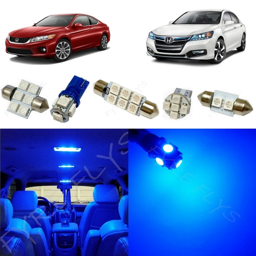 12x blue led lights interior package kit for 2013 2017 honda accord ha2b ebay. Black Bedroom Furniture Sets. Home Design Ideas