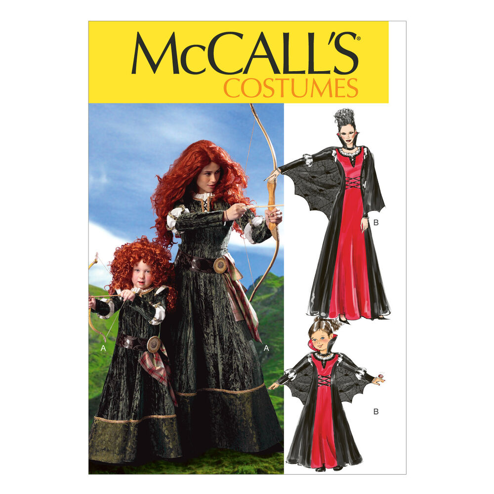 Mccall S 6817 Sewing Pattern Costumes Brave Merida Gown