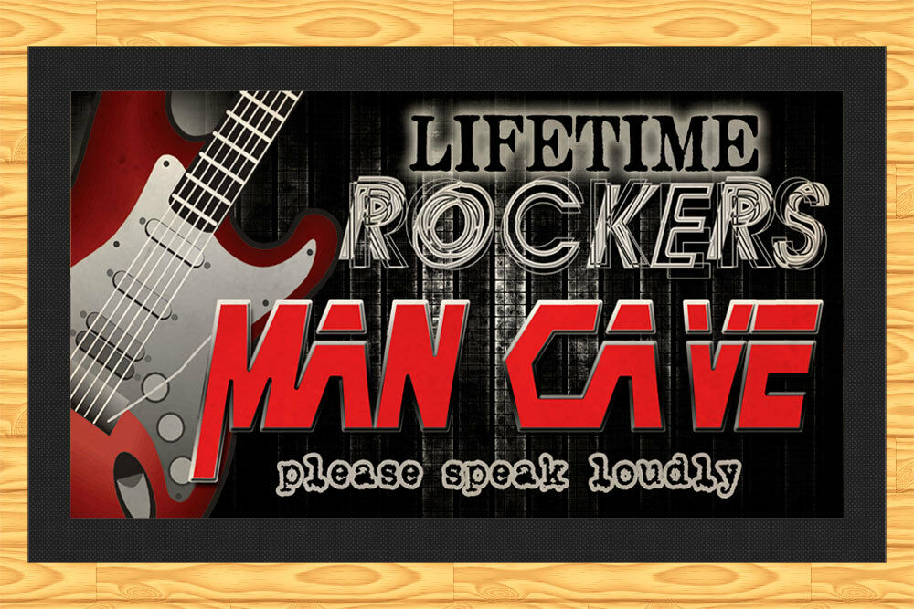 Man Cave Bars Brisbane : Man cave lifetime rockers bar runner mat ebay