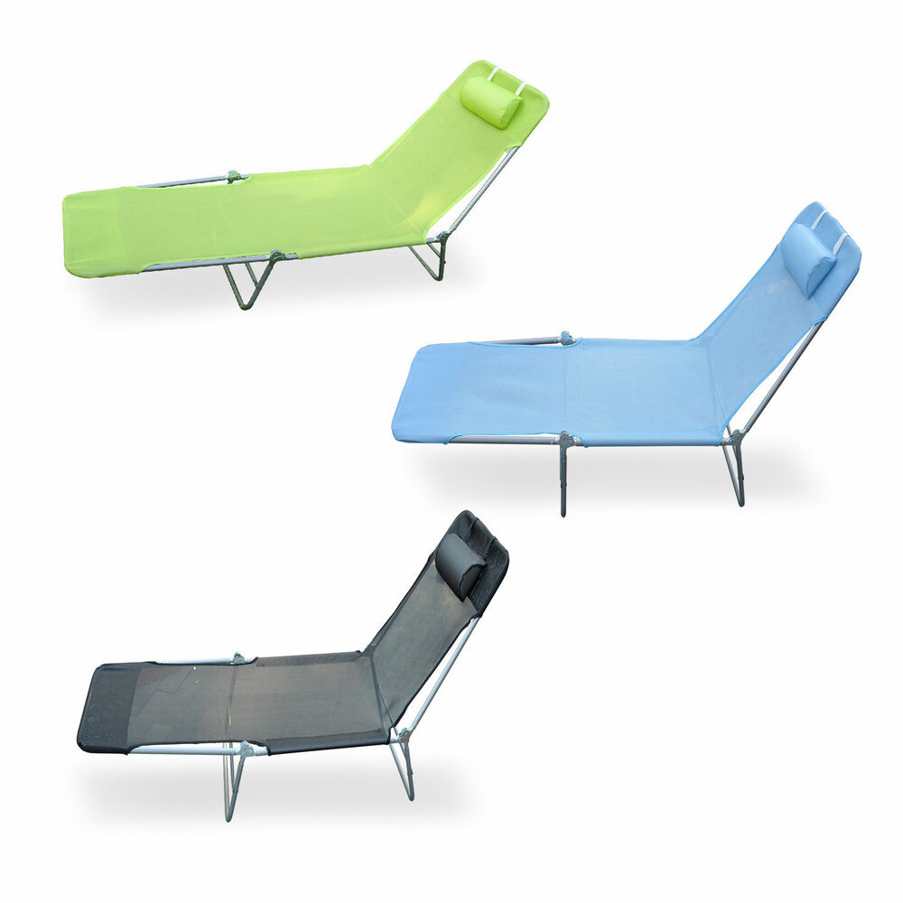 Outdoor folding reclining beach sun patio chaise lounge for Beach chaise lounge folding