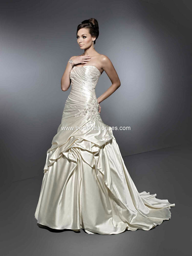Formal bridal wedding dress gown from private label by g for Ivory and silver wedding dress