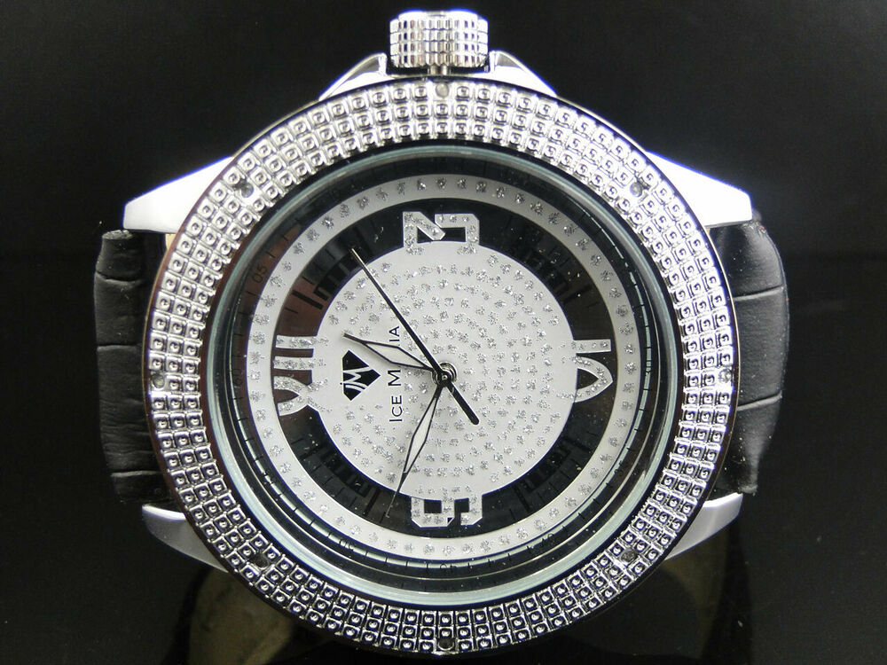 Mens New Ice Mania Jojo Joe Rodeo 50 Mm Iced Out Real