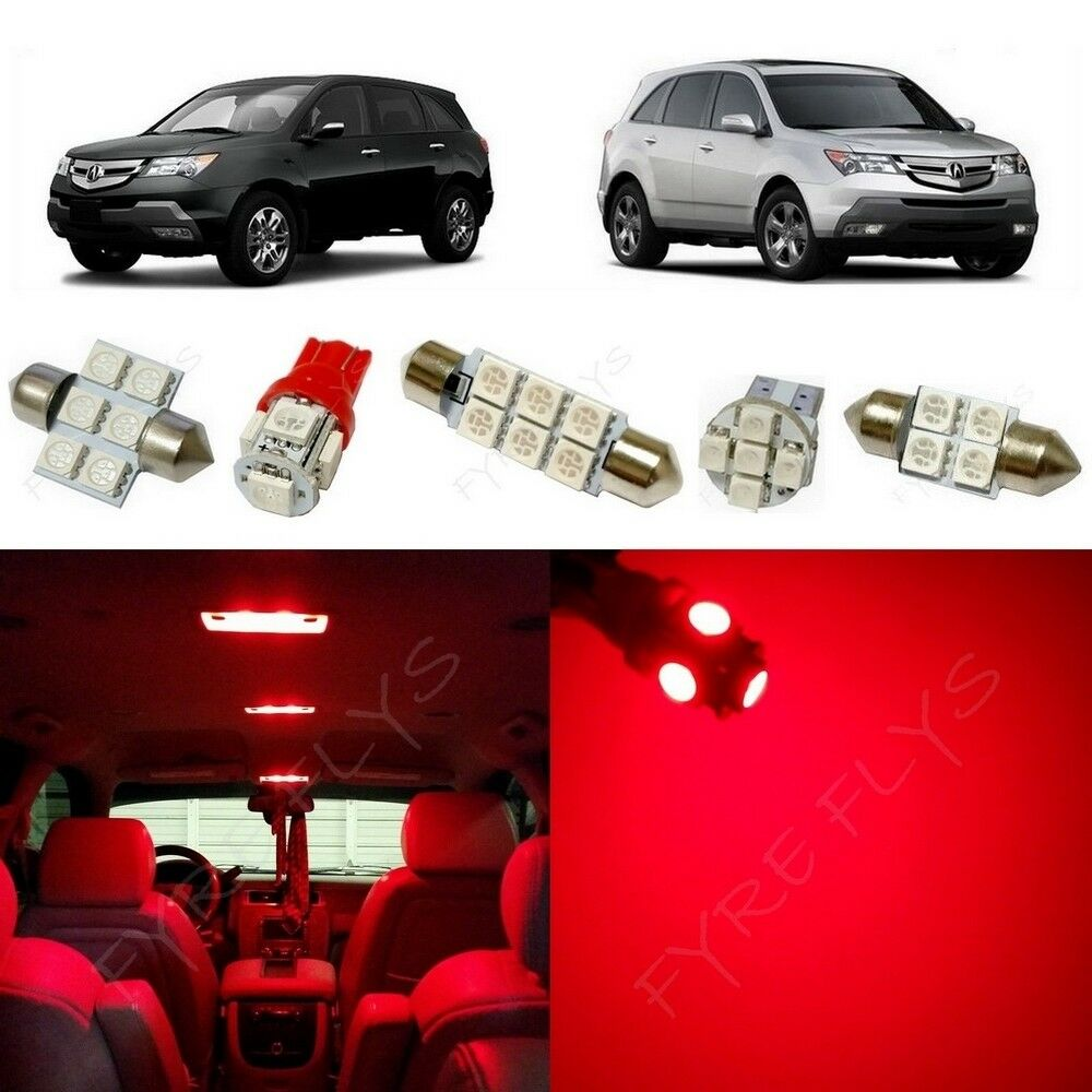21x Red LED Lights Interior Package Kit For 2001-2013