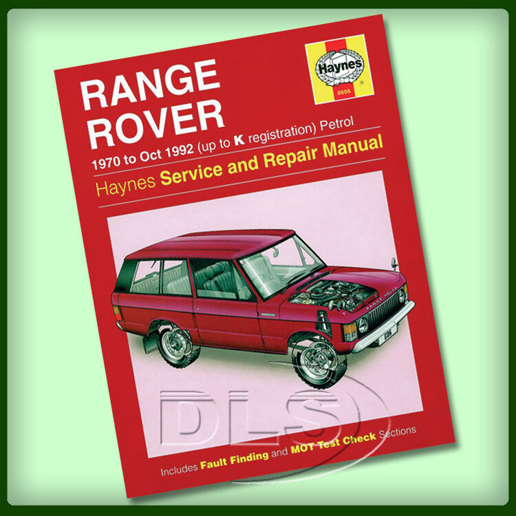 606917 Range Rover Classic Owners Manual 1970 Manual Guide
