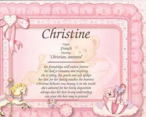Personalized first name meaning gift new baby girl baby for Decor meaning