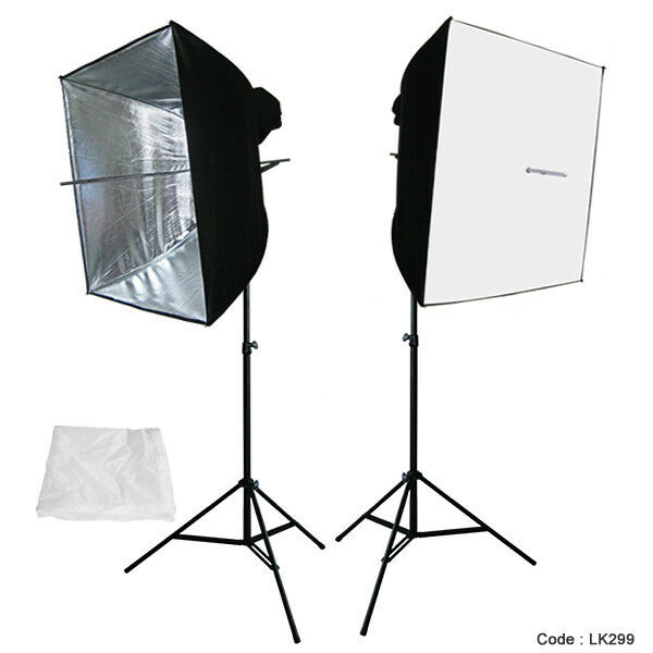 "Soft Studio Lighting Kit: 24"" X 24"" Photography Photo Equipment Soft Studio Light"