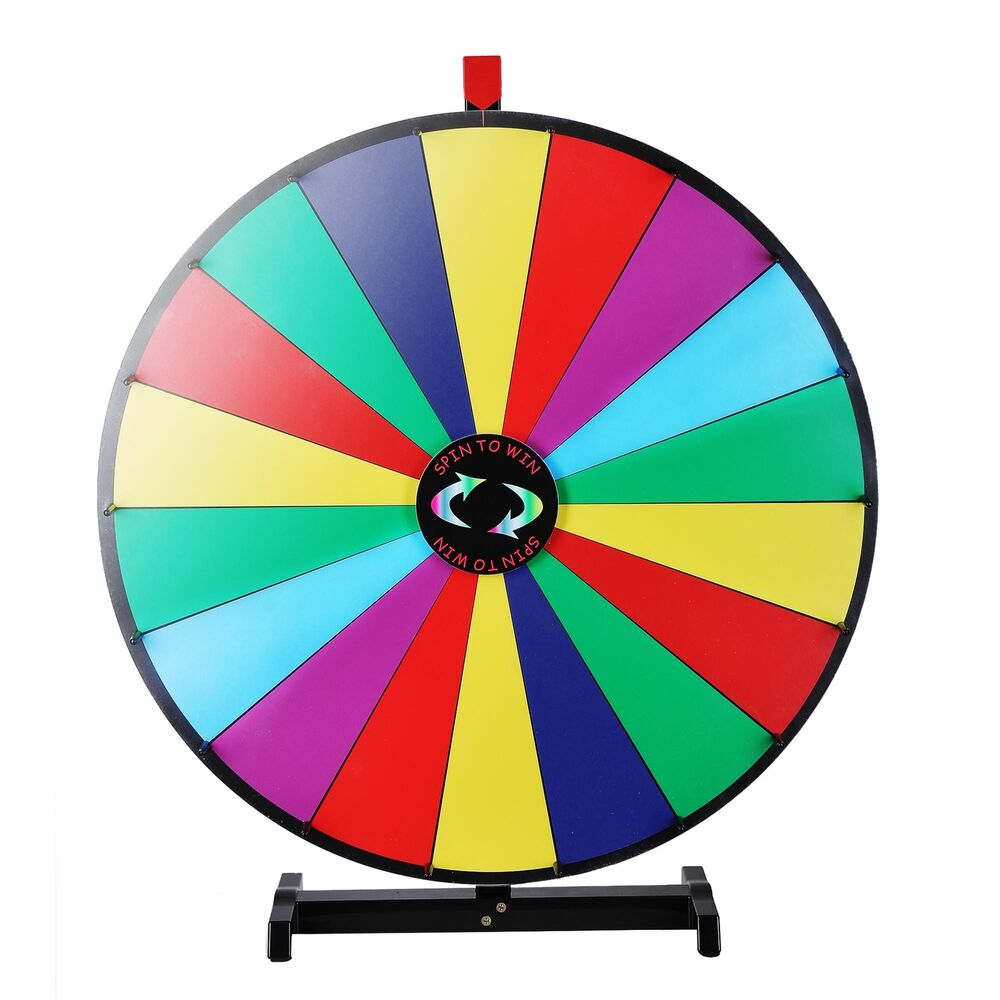 upgraded editable 30 color prize wheel of fortune trade show tabletop spin game ebay. Black Bedroom Furniture Sets. Home Design Ideas