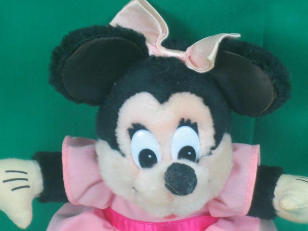 Vintage Applause Pink Skirt Disney Baby Minnie Mouse Plush