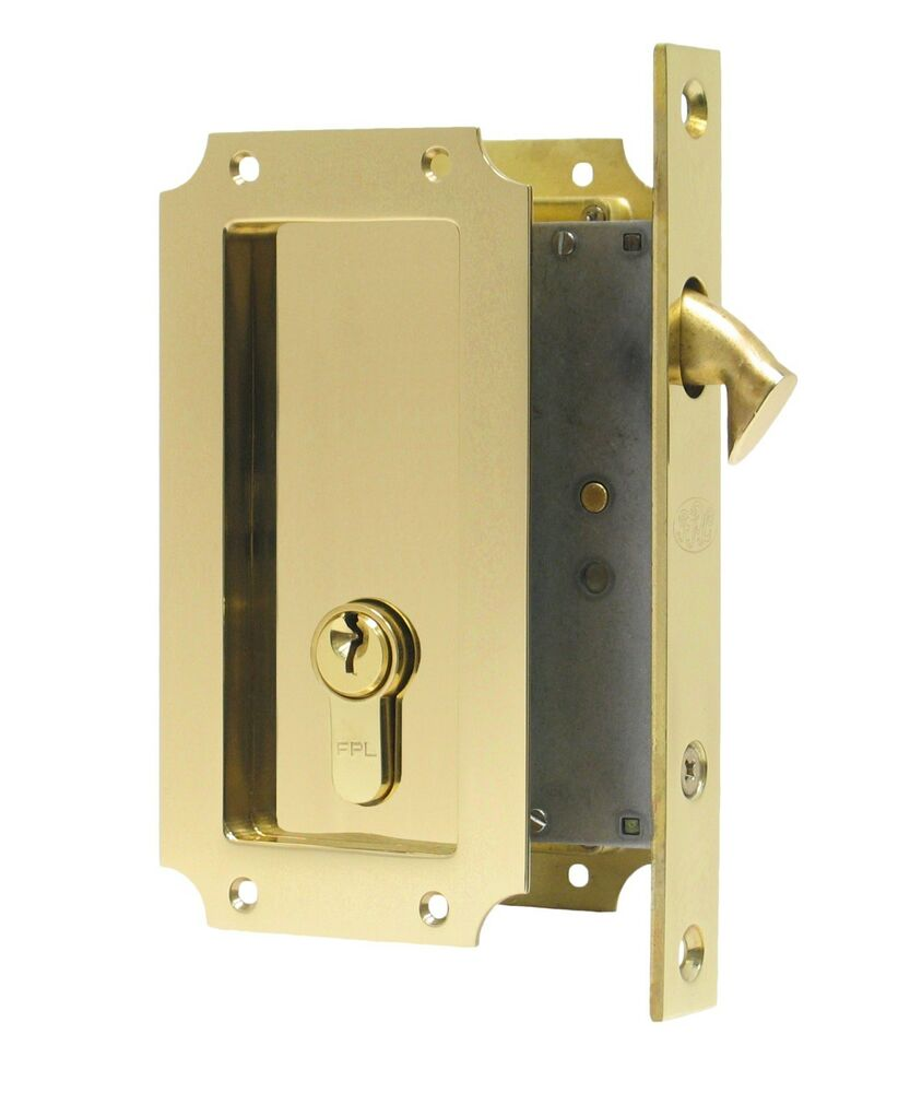Fpl Manor Pocket Door Mortise Lock With Single Keyed