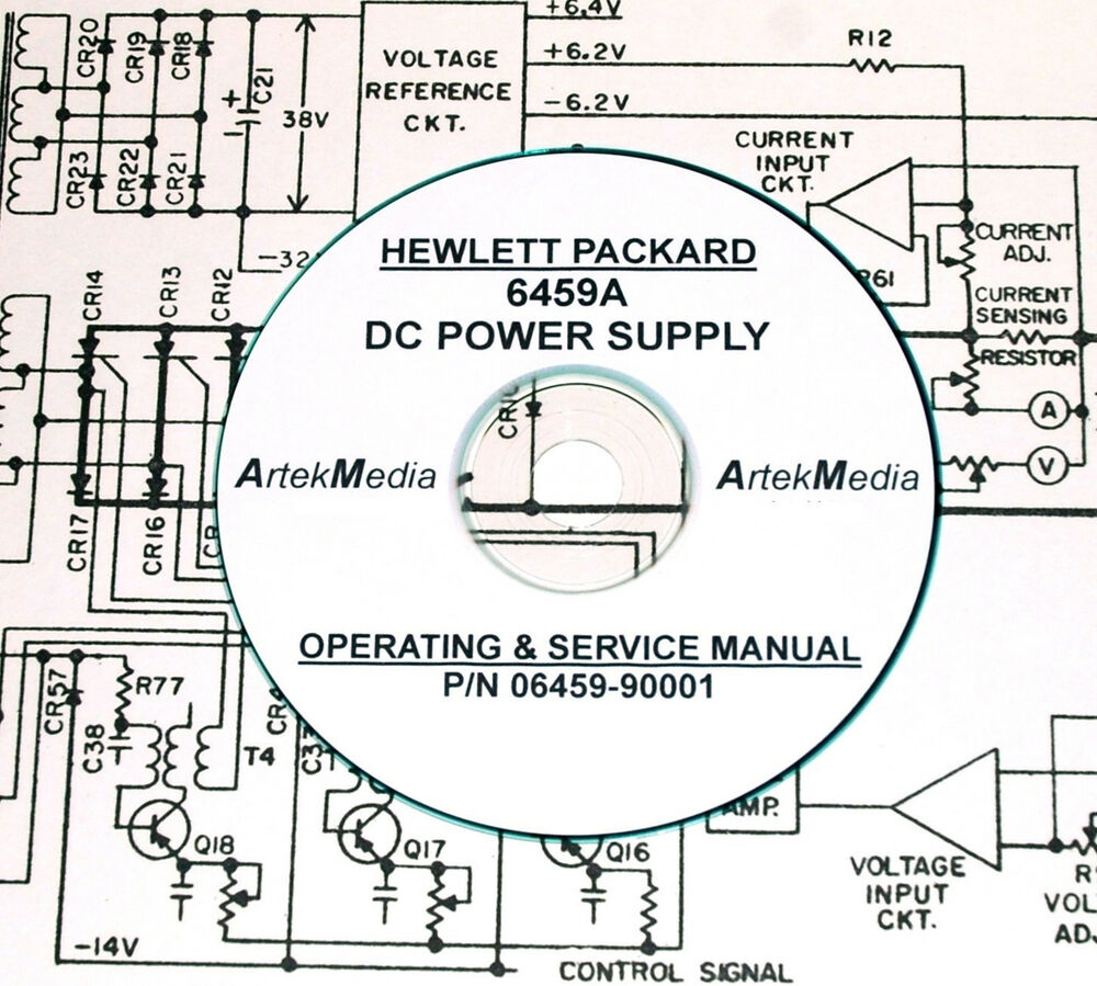 hp 6459a dc power supply operating  u0026 service manual