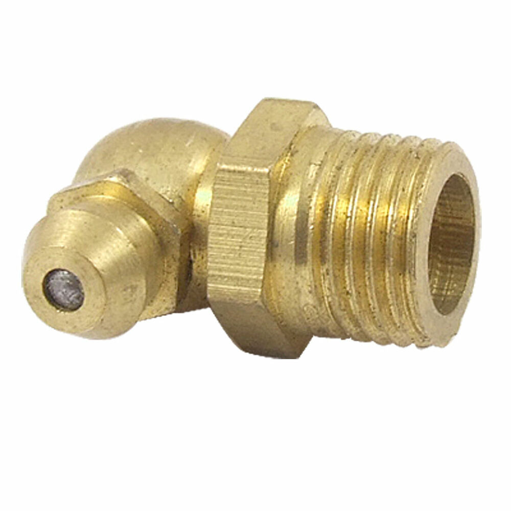 M male thread degree brass hydraulic grease nipple
