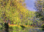 MONET - Bend in the River Epte - QUALITY CANVAS PRINT 30x20cm