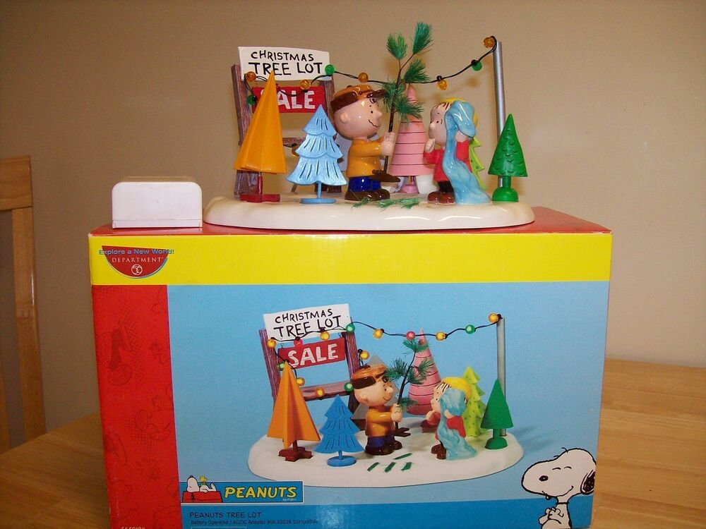Department 56 Peanuts Tree Lot Charlie Brown Snoopy Christmas ...