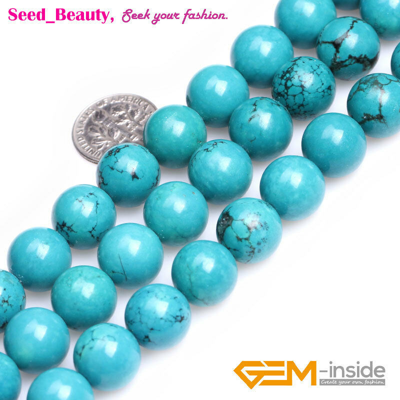 Sky blue turquoise stone jewelry making beads strand 15 for Birthstone beads for jewelry making