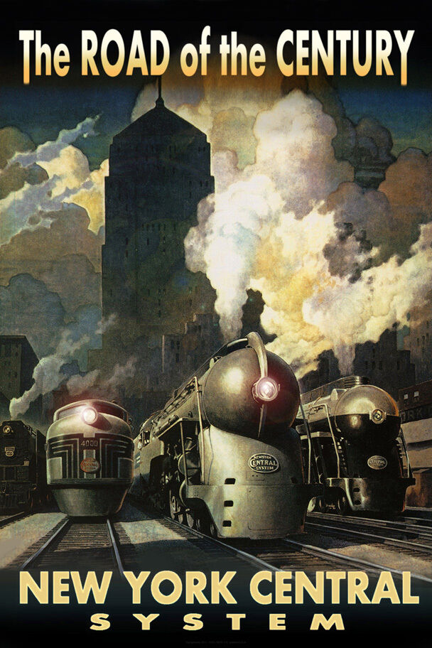 New York Central Railroad Streamliners Poster Chicago