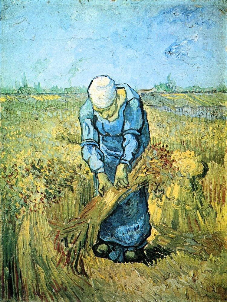 farm worker by vincent van gogh giclee fine art print