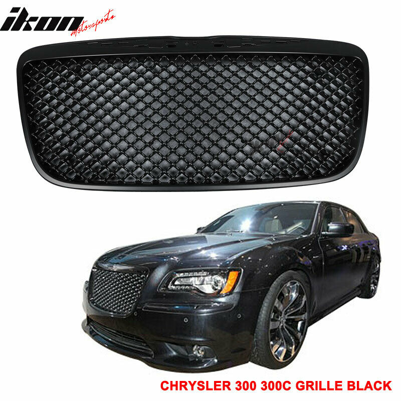 2011 2014 Chrysler 300 300c Fog Light Stainless Steel Mesh: Fit 11-14 Chrysler 300 300C B Style Mesh Style Front Grill