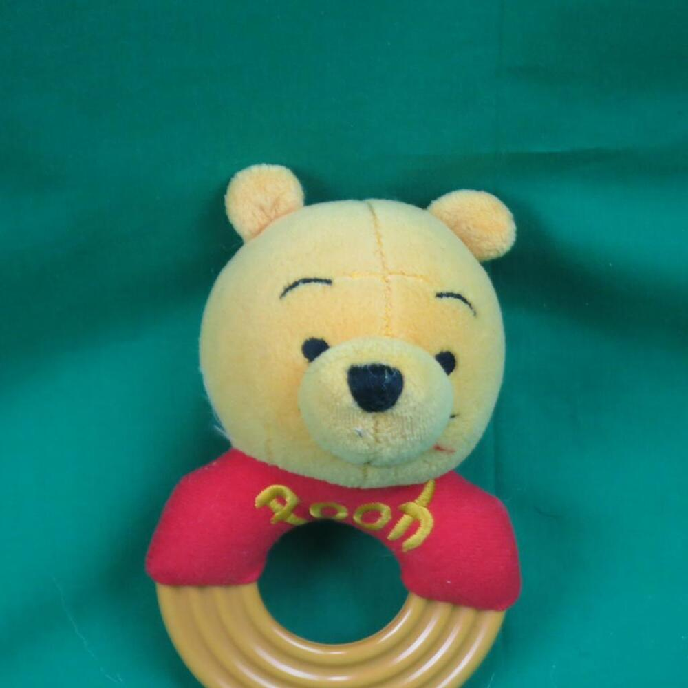 WINNIE THE POOH BABY HUNNY RATTLE TEETHER RING TOY DISNEY