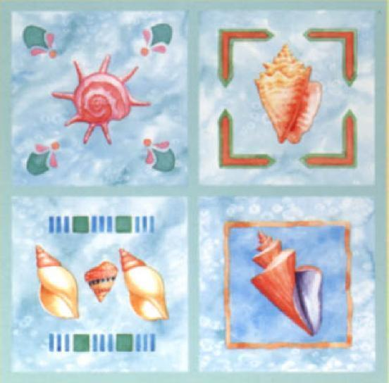 bathroom tile covers sea shells seashell tiles bath 12 tile cover stick ups 11593