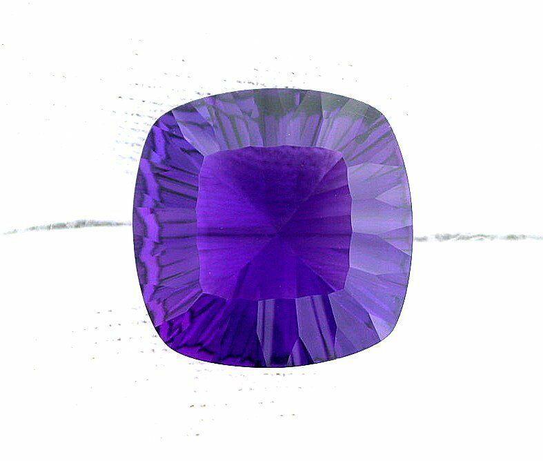 19mm concave square zambian purple amethyst color quartz