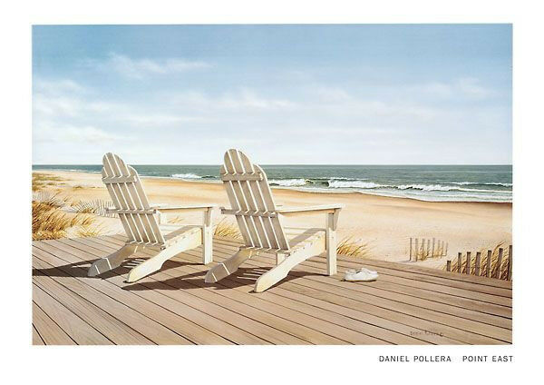 daniel pollera point east beach art print 24x34 ocean