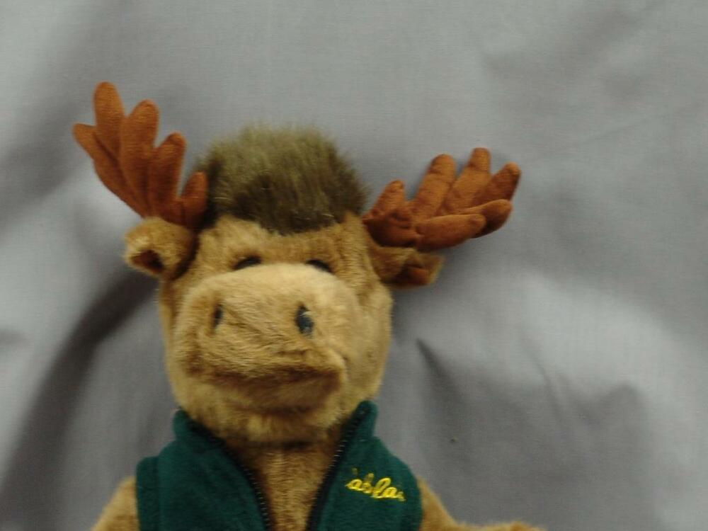 BIG CABELAS GREEN FLEECE JACKET MOOSE PLUSH STUFFED ANIMAL SOFT ...
