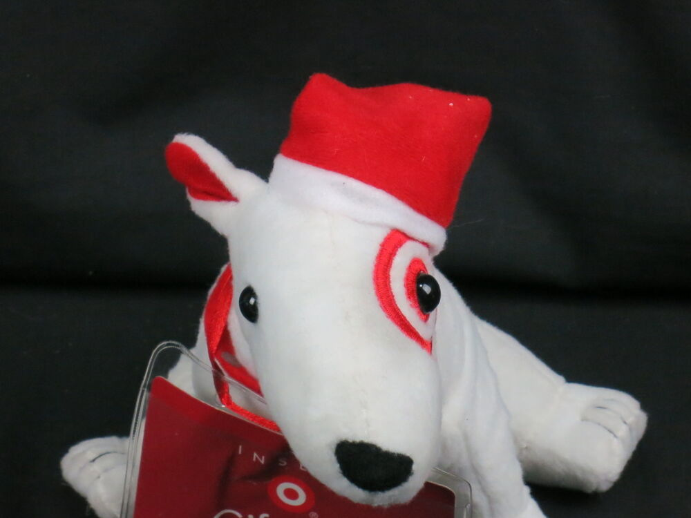 Target mascot bullseye christmas puppy dog gift card What kind of dog is the target mascot