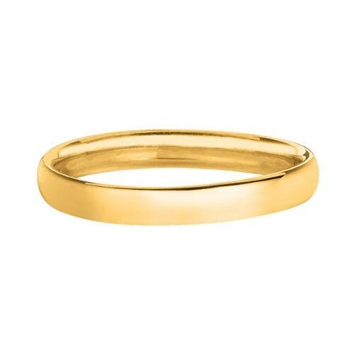 14k Yellow Gold High Polish Comfort Fit Wedding Band Ring 3mm Size 5 11